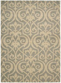 RugStudio presents Nourison Riviera RI-04 Slate Machine Woven, Best Quality Area Rug