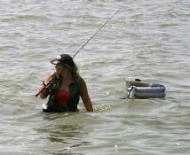 Wade Fishing that is why i love to go fishing..time of relaxing