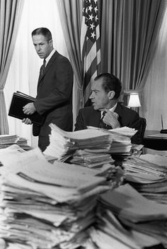 Nixon with his chief of staff H R Haldeman.  It is now clear, after extensive…