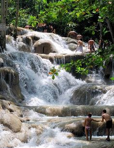 Climbing up Dunn's River Falls in Jamaica brought us together! We held hands as we made our way up the waterfall and enjoyed splashing around in cool water! #KHTogether