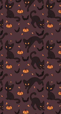 Cute Fall Wallpaper, October Wallpaper, Holiday Wallpaper, Halloween Wallpaper Iphone, Halloween Backgrounds, Disney Wallpaper, Purple Wallpaper, Kawaii Wallpaper, Custom Wallpaper