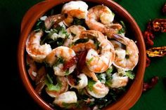 Fiery and Garlicky Shrimp Made with Clavo Red Chilies. - Nancy Lopez-McHugh
