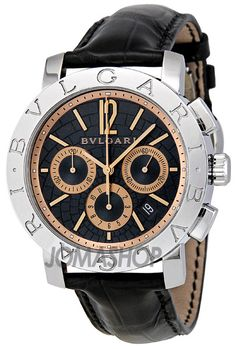 Bvlgari Blue Dial Chronograph Automatic Mens Watch. List price: $6450