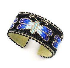 Blue Butterfly Bracelet by Teri Greeves