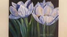 Tulips.  Acrylic on canvas. 500x300mm. SOLD!