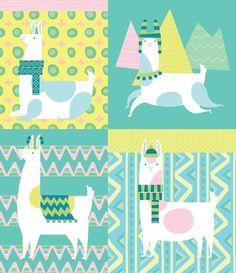 Llama pattern - Lamas maniacs
