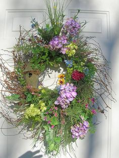 Country Primitive Spring Summer Wreath
