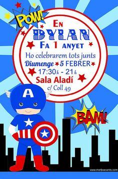 Cumpleaños Capitán América www.merboevents.com