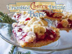 Crumbled Cherry Drizzle Bars - Deja Vue Designs