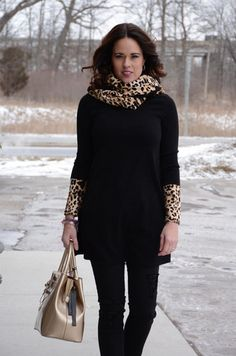 Tunic With Removable Leopard Scarf – Eclections