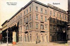 1860 körül. Angol Királynő szálloda a Vigadó mellett