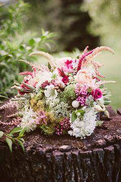 Rustic pink bouquet | Shauna Ploeger