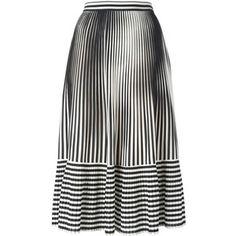 Marco De Vincenzo pleated stripes skirt