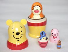 Winnie the Pooh Nesting Dolls - Repeat Crafter Me Repeat Crafter Me, Sharpie Pens, Homemade Toys, Matryoshka Doll, Crafty Kids, Pooh Bear, Disney Art, Winnie The Pooh, Fun Crafts