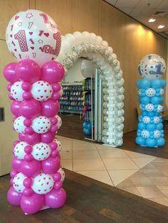 Solo globos Balloon Tower, Balloon Stands, Balloon Display, Balloon Backdrop, Balloon Columns, Balloon Wall, Ballon Diy, Deco Ballon, Baby Shower Balloons