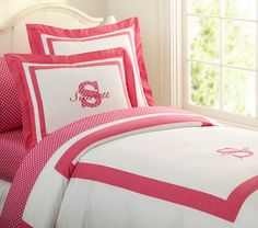 Shop kids bedding at Pottery Barn Kids. Find kids duvet covers, bed sheets and more bedding essentials in fun prints and colors that your kids will love. Daughters Room, Tiny Spaces, Big Girl Rooms, Baby Furniture, Girls Bedroom, Bedrooms, Pottery Barn Kids, Interior Design