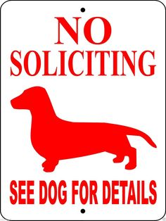 DACHSHUND DOG SIGN NSD #Dachshund