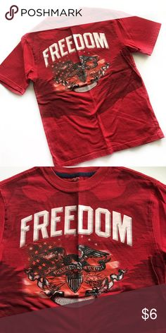 Freedom Tee Boys L Freedom Graphic Tee. Excellent Used Condition Shirts & Tops Tees - Short Sleeve