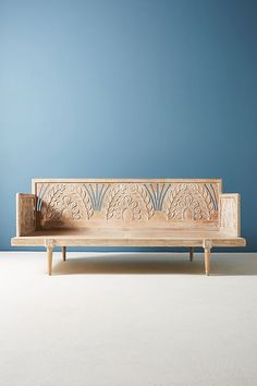 Carved Lovella Daybed by Anthropologie in Beige Size: All, Sofas Home Office Furniture, Unique Furniture, Furniture Decor, Furniture Design, Furniture Online, Chair Design, Furniture Movers, Discount Furniture, Plywood Furniture