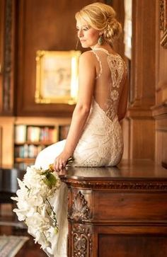 Love the back of this dress, beautiful lace & fit
