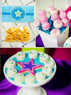 colorful gymnastics birthday party
