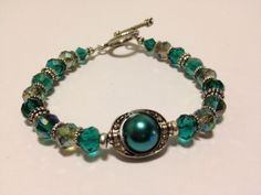 Vintage Style Beaded Bracelet  Turquoise by SugapieJewelry on Etsy, $20.99