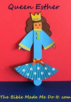 QUEEN ESTHER CRAFT STICK WITH FLOUNCED SKIRT – The Bible made me do it!