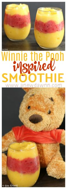 Winnie the Pooh Smoothie Inspired by Disney's Christoper Robin
