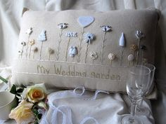 My Wedding Garden Pillow Cottage Style by PillowCottage on Etsy