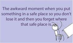 The awkward moment when....