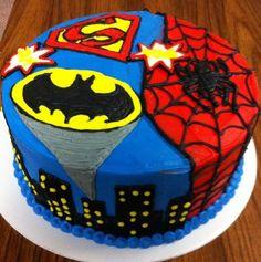 superhero birthday cakes | superheroes-birthday-cakes-awesome
