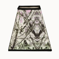 Bell shape black white and mauve fabric by Gingerartlamps on Etsy, $65.00