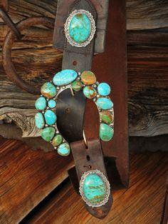 Beautiful Turquoise Concho Belt by Brit West. Cowgirl Chic, Cowgirl Style, Concho Belt, Belt Buckles, Ceinture Cowboy, Vintage Jewelry, Handmade Jewelry, Le Far West, Western Belts