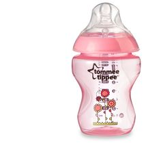 Tommee Tippee Pink Decorated Bottles Tommee Tippee® Closer To Nature®  6 Pk 260Ml Decorated Bottles