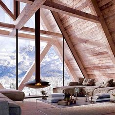 What a view 🙌🏻 Love the fireplace 🔥 #aroomwithaview #fireplace #livingroom #stue #interior_delux