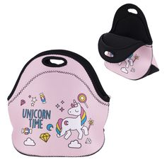Sale 21% (6.99$) - IPRee® Neoprene Girl Unicorn Tote Insulated Lunch Cooler Travel Picnic Handbag Pouch