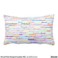 Stroud Text Design II Lumbar Pillow