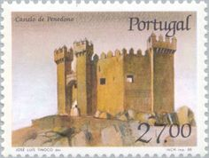 Sello: Castle Penedono (Portugal) (Castles and Coat of arms of Portugal (9th group)) Mi:PT 1758,Sn:PT 1726,Afi:PT 1850