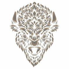 Bison Head Stencil Animal Stencil, Bison, Stencils, Lion Sculpture, Walls, Statue, Crafts, Animals, Art