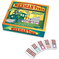 Mexican Train Dominoes with Electric Choo Choo Train Whistle $26.99 #bestseller