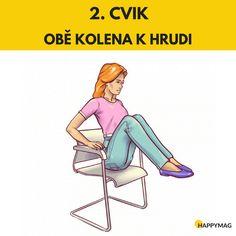 6 efektivních cviků jak zhubnout boky, zatímco sedíte na židli Gentle Yoga, Fett, Exercise, Workout, Health, Sports, Police, Beauty, Abdominal Pain