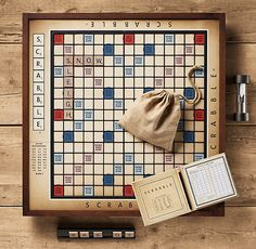 Vintage Giant Scrabble®.  My husband won't play against me any more--not since I majored in English.