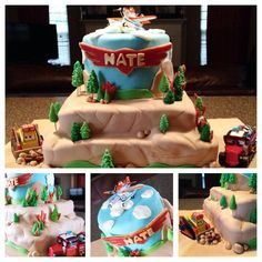 Fire and rescue disney planes cake