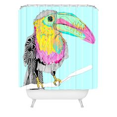 Casey Rogers Toucan Shower Curtain | DENY Designs Home Accessories