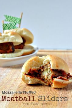 Mozzarella Stuffed Meatball Sliders