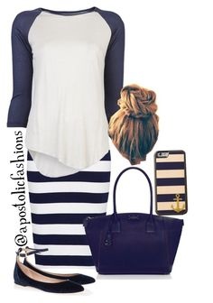 """""""Apostolic Fashions #833"""" by apostolicfashions on Polyvore featuring French Connection, Neuw, Kate Spade and Chloé"""