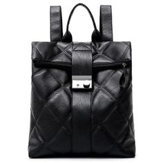 #RoseGal.com - #RoseGal Quilted PU Leather Backpack - AdoreWe.com