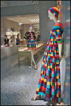 """VALENTINO,Milan,Italy, """"Multi-Color"""", pinned by Ton van der Veer Go Shopping, Window Shopping, Behind The Glass, Retail Windows, Milan Italy, Box Design, Retail Design, Visual Merchandising, Valentino"""