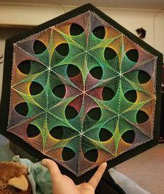 Geometric string art by Evan Tabor