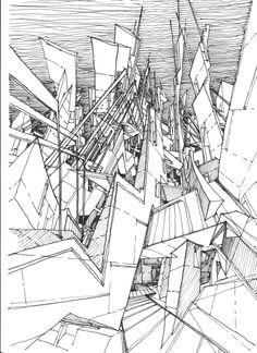MARS ARCHITECTURES / Drawing by Stefan Davidovici, Architect - Milan, Italy | the architecture draftsman